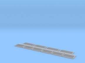 Lüftergitter mit 6 Lamellen: 28x14 und 22x14 in Smooth Fine Detail Plastic