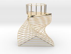 Triangle Tealight Holder in 14k Gold Plated Brass
