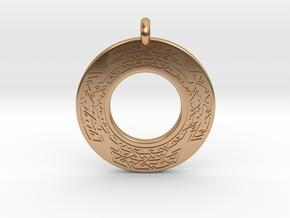 Celtic Cross Annulus Donut Pendant in Polished Bronze