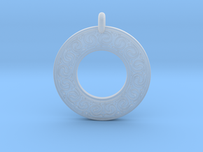 Celtic Spirals Annulus Donut Pendant in Smooth Fine Detail Plastic