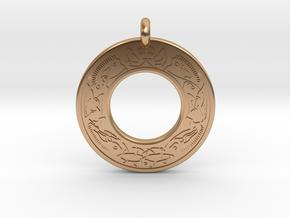 Cerridwen Celtic Goddess Annulus Donut Pendant in Polished Bronze