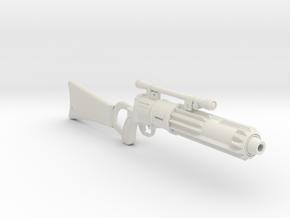 1/3rd Scale Boba Fett Blaster  in White Natural Versatile Plastic