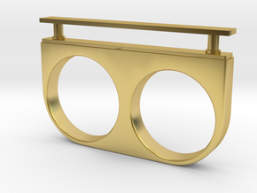 Single Drawer Ring in Polished Brass