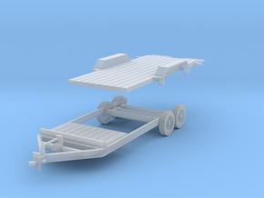 Tilt Utility Trailer 1-87 HO Scale in Smooth Fine Detail Plastic