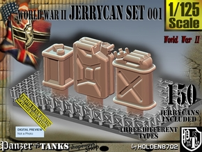 1/125 World War II  Jerrycans Set001 in Smoothest Fine Detail Plastic