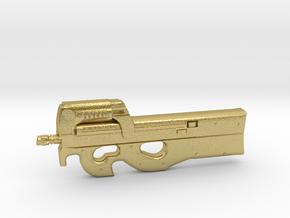 P90 gun  in Natural Brass