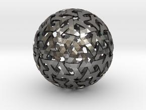 Geodesic Weave in Polished Nickel Steel