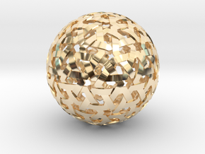 Geodesic Weave  in 14K Yellow Gold