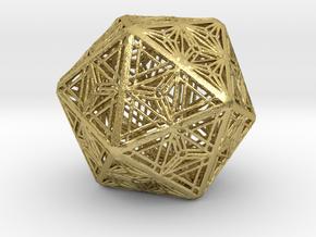 Icosahedron Unique Tessallation in Natural Brass