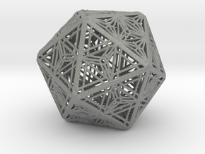 Icosahedron Unique Tessallation in Gray Professional Plastic