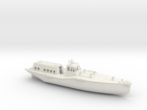 1/96 Scale IJN 15 Meter Boat in White Natural Versatile Plastic
