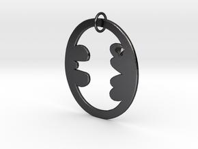 Bat Keychain in Polished and Bronzed Black Steel