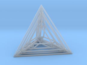 Tetrahedron Experiment in Smooth Fine Detail Plastic