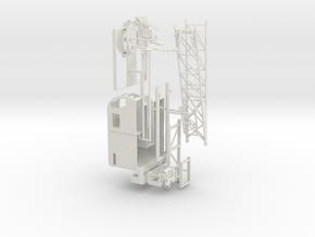 1/64th P&H Type Lattice Boom Crane in White Natural Versatile Plastic