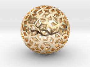Deltoid Reticulation in 14k Gold Plated Brass