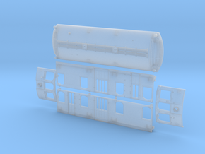 O Scale Illinois Terminal Class B Body in Smooth Fine Detail Plastic