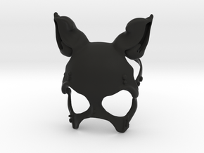 Button Bunny Mask in Black Natural Versatile Plastic: Small