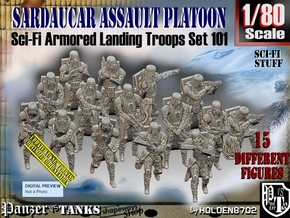 1/80 Sci-Fi Sardaucar Platoon Set 101 in Smooth Fine Detail Plastic