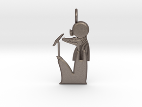 Sobek-Ra amulet in Polished Bronzed-Silver Steel