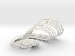 Anishchenko-Astakhov Attractor in White Natural Versatile Plastic