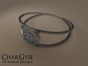 Elegant Bangle - Suspended Coin in Smooth Fine Detail Plastic
