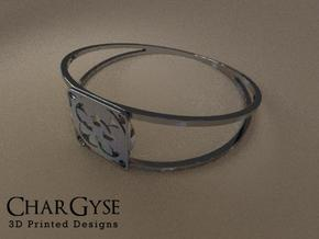 Elegant Bangle - Four Fountains in Smooth Fine Detail Plastic