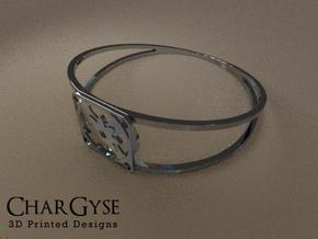 Elegant Bangle - Eight Petal Supported in Smooth Fine Detail Plastic