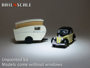 Ford Eifel + Dethleffs Tourist (N 1:160) in Smooth Fine Detail Plastic