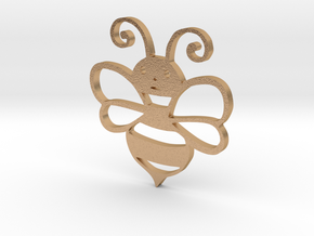 Cute Honey bee in Natural Bronze