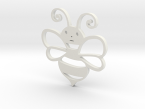Cute Honey bee in White Natural Versatile Plastic