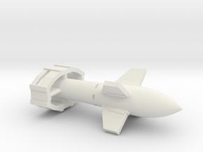 (1:144) Fx 1400 Fritz X in White Natural Versatile Plastic