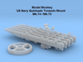 1/48 Quintuple Torpedo Mount Mk.14 & 15 in Smooth Fine Detail Plastic