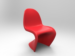 Panton Chair 10.7cm (4.2 inches) Height in Red Strong & Flexible Polished