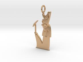 Heru-wer / Haroeris amulet in Natural Bronze