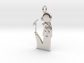 Ra  / Ra-Horakhty amulet in Rhodium Plated Brass