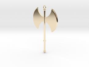 Battle Axe Charm (Pendant) #1 in 14K Yellow Gold
