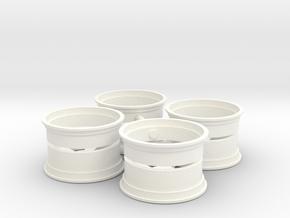 HotWheels 1/12 wheel 15x9 in White Processed Versatile Plastic
