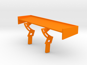 PSSX00103 rear wing for Scalextric Mercedes AMG GT in Orange Processed Versatile Plastic