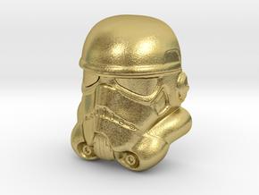 Stormtrooper Lapel Pin in Natural Brass