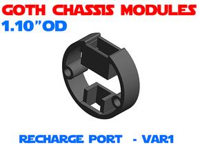 GCM110 - Recharge Port Chassis Var1 in White Natural Versatile Plastic