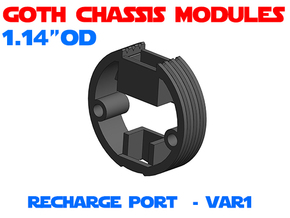 GCM114 - Recharge Port Chassis Var1 in White Natural Versatile Plastic