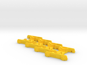 """4 x """"Loco Buggy V 2.1"""" H0 (1:87) in Yellow Processed Versatile Plastic"""