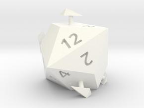 d12 sphericon (alternate) in White Processed Versatile Plastic