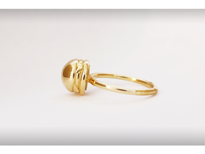 BURGER RING in Polished Brass