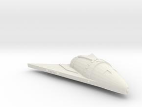 3788 Scale Hydran Scythian Escort Carrier CVN in White Natural Versatile Plastic