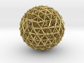 Geodesic • Two-layer Sphere in Natural Brass