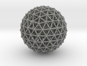 Geodesic • Two-layer Sphere in Gray PA12