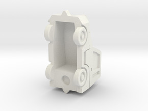 Comet6 tractor in White Natural Versatile Plastic: 1:87 - HO