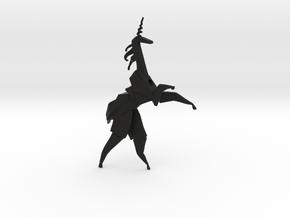 Unicorn_Origami_BladeRunner_Be Replicant in Black Premium Versatile Plastic