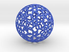 Chaotic Order in Blue Processed Versatile Plastic